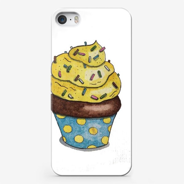 Чехол iPhone «Весёлый капкейк»