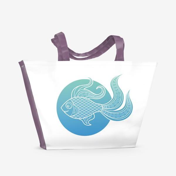 Пляжная сумка «fish»