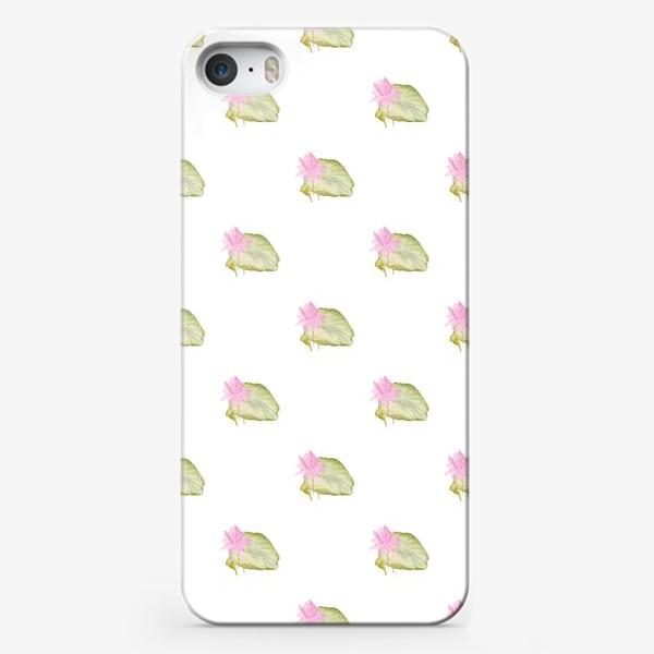 Чехол iPhone «Паттерн лотосы акварель»