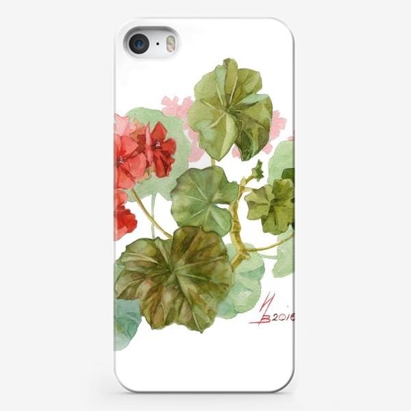 Чехол iPhone «Красная пеларгония»
