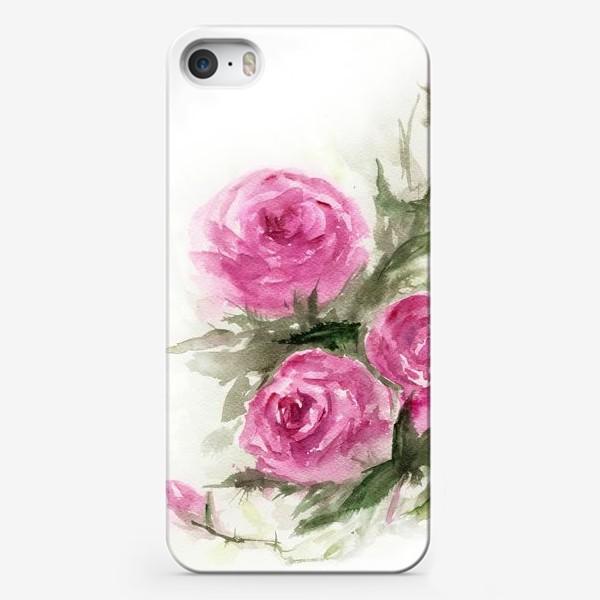 Чехол iPhone «Роза акварель»