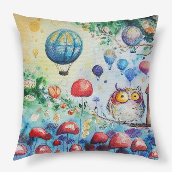 Подушка «Мир совы »