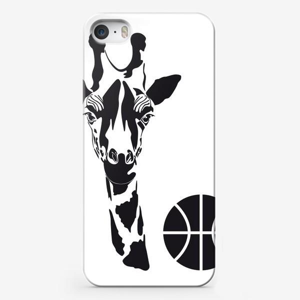 Чехол iPhone «Жираб-баскетболист»