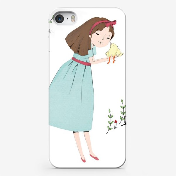 Чехол iPhone «Птичка на ладошках»