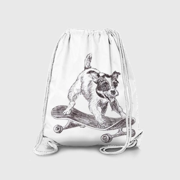 Рюкзак «Собака на скейте»