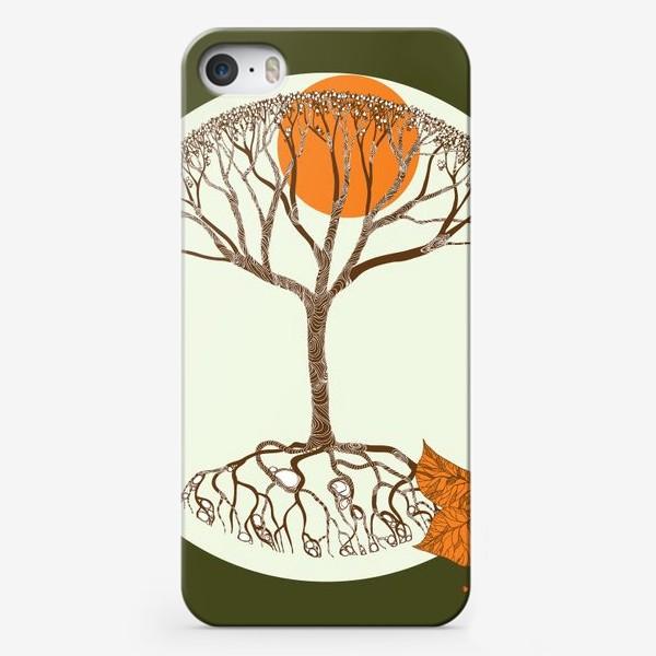 Чехол iPhone «Липа и листья»