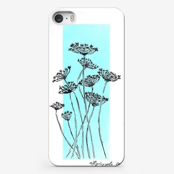 """Чехол iPhone «Растения """"зонтики""""»"""