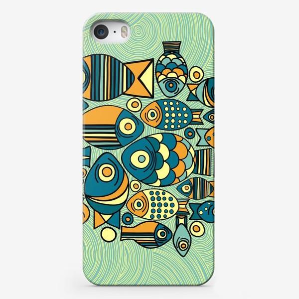 """Чехол iPhone «Подводный мир. Орнамент """"Рыбы""""»"""