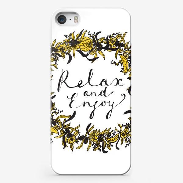Чехол iPhone «Венок Расслабься и наслаждайся»