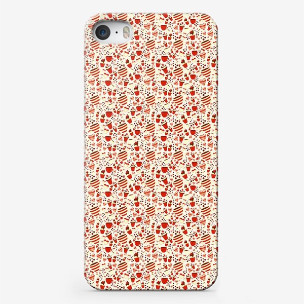 Чехол iPhone «Кофе. Паттерн»