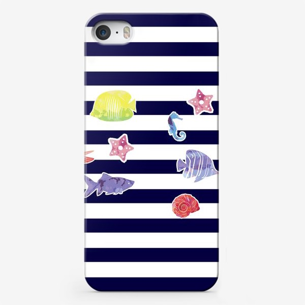 Чехол iPhone «В мире морском 2»