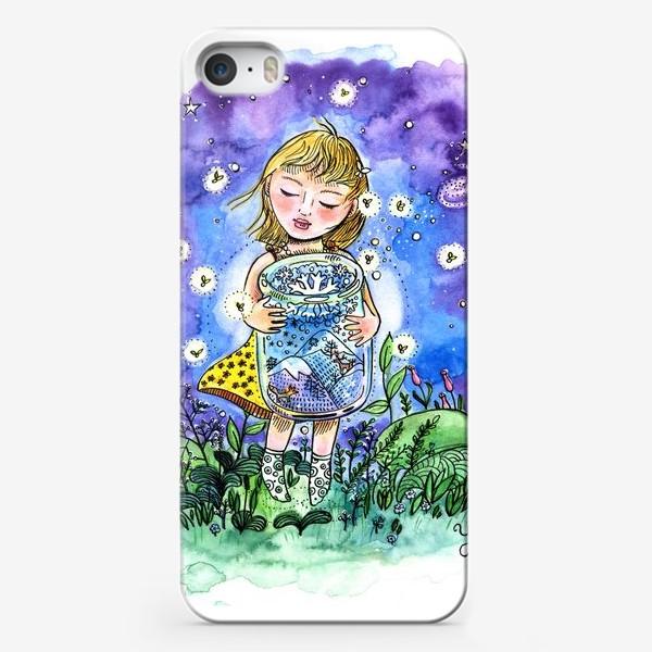 Чехол iPhone «Девочка и зима в банке»