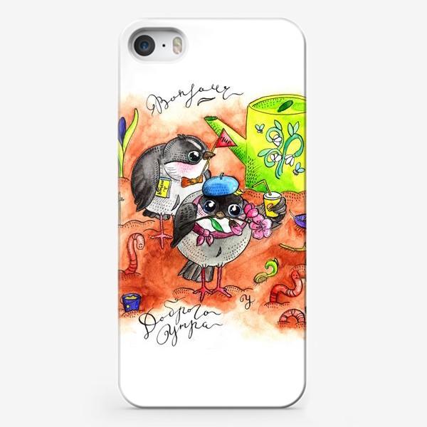 Чехол iPhone «Синички и первомай»