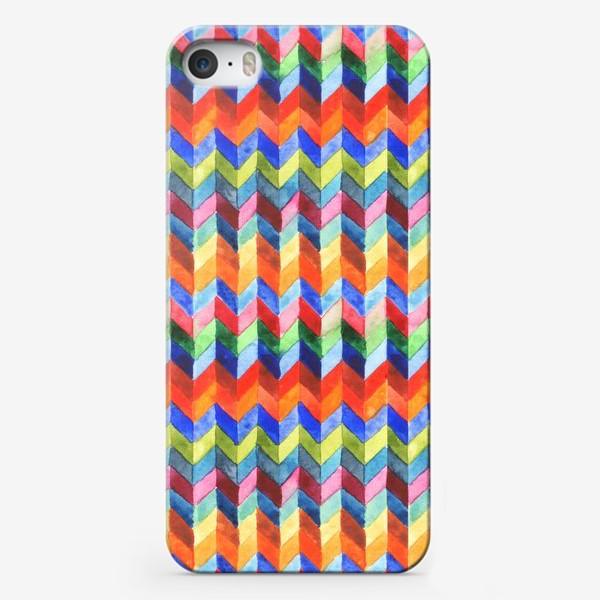 Чехол iPhone «Цветной зигзаг»