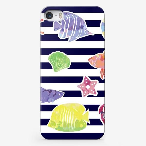 Чехол iPhone «В мире морском»