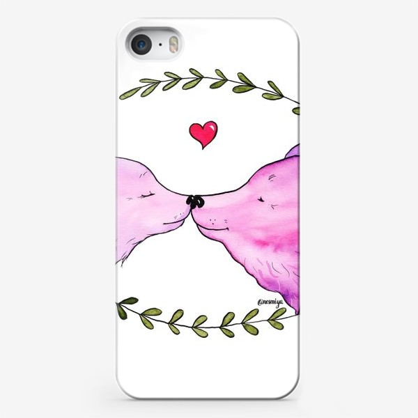 Чехол iPhone «Люблю. Мишки»