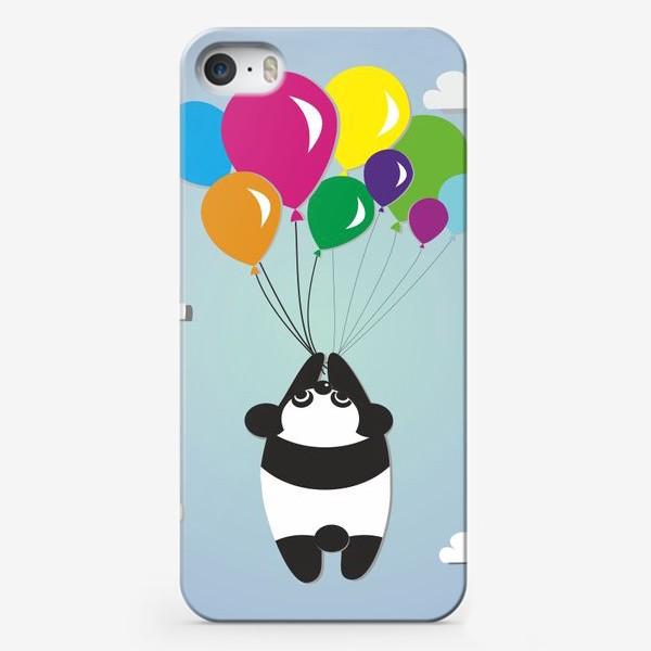 Чехол iPhone «Летящая панда»