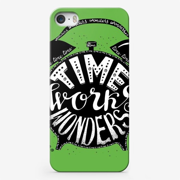 Чехол iPhone «Будильничек на зеленом»