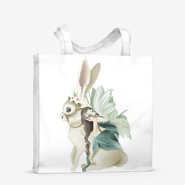 Сумка-шоппер «Фея на зайце»