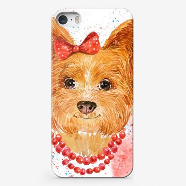 Чехол iPhone «собака акварель»