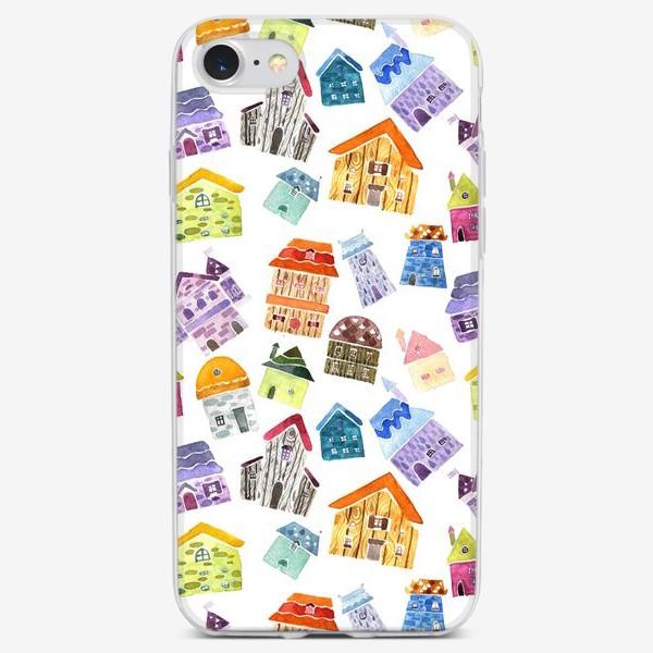 Чехол iPhone «Домики »