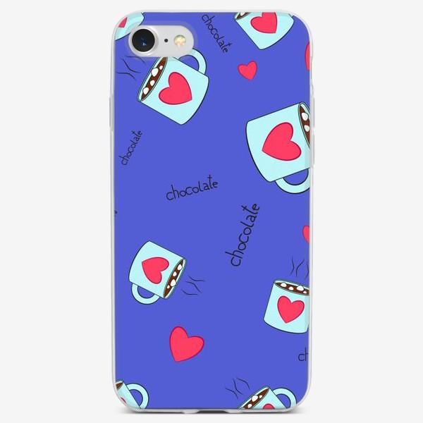 Чехол iPhone «Счастье в чашке шоколада!»