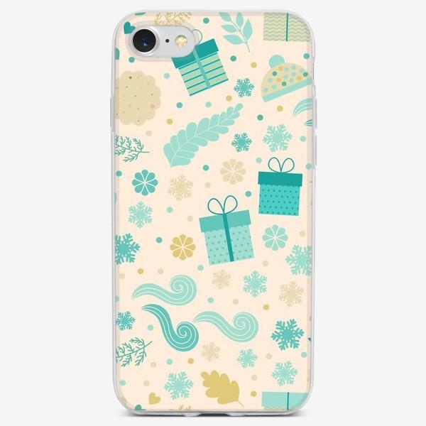 Чехол iPhone «Новгодний паттерн бесшовный 2»