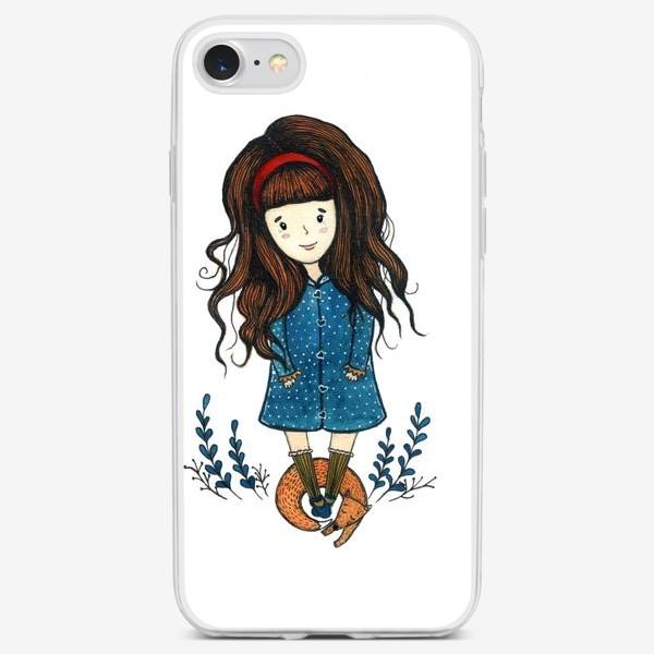 Чехол iPhone «Девочка с лисой»