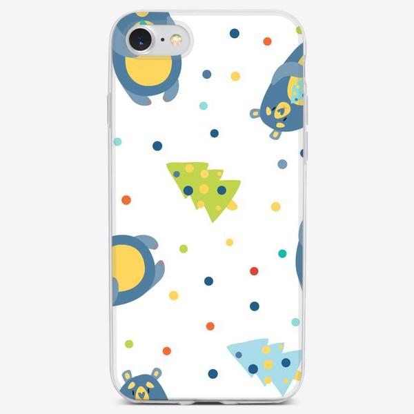 Чехол iPhone «Рождественские медведи»