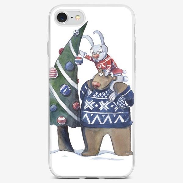 Чехол iPhone «у новогодней елки»