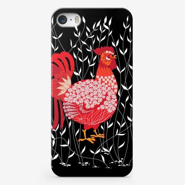 Чехол iPhone «Петушок в траве»