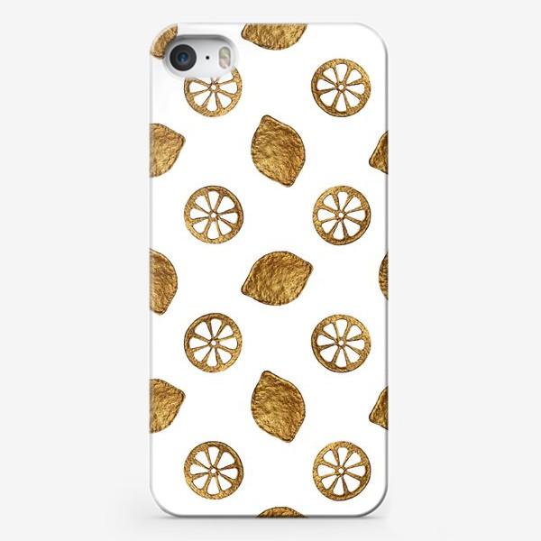 Чехол iPhone «Лимоны золотые»