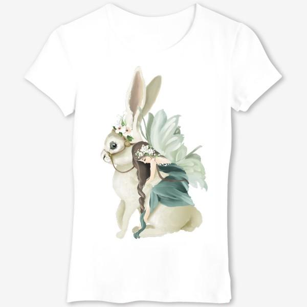 Футболка «Фея на зайце»