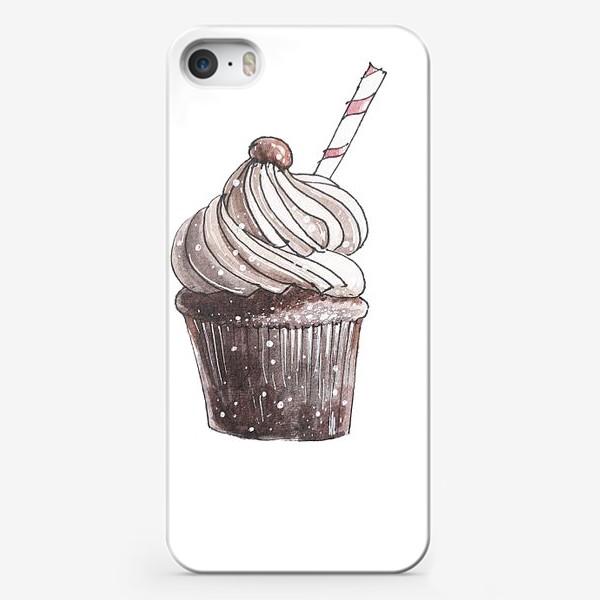 Чехол iPhone «Кофейный капкейк»