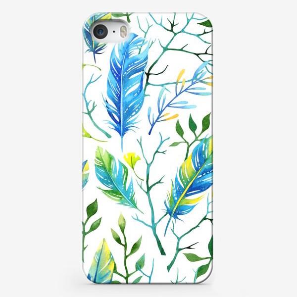 Чехол iPhone «Веточки и перья»