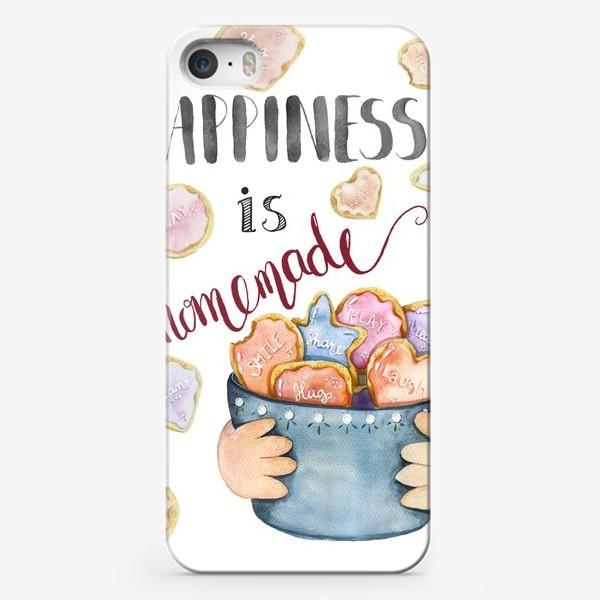 Чехол iPhone «Happiness is homemade»