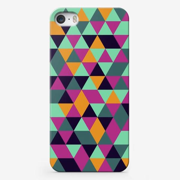 Чехол iPhone «Бесшовный геометрический паттерн с треугольниками. Seamless geometric pattern with triangles.»