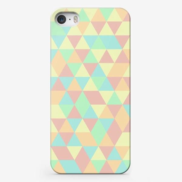 Чехол iPhone «Бесшовный паттерн с треугольниками»