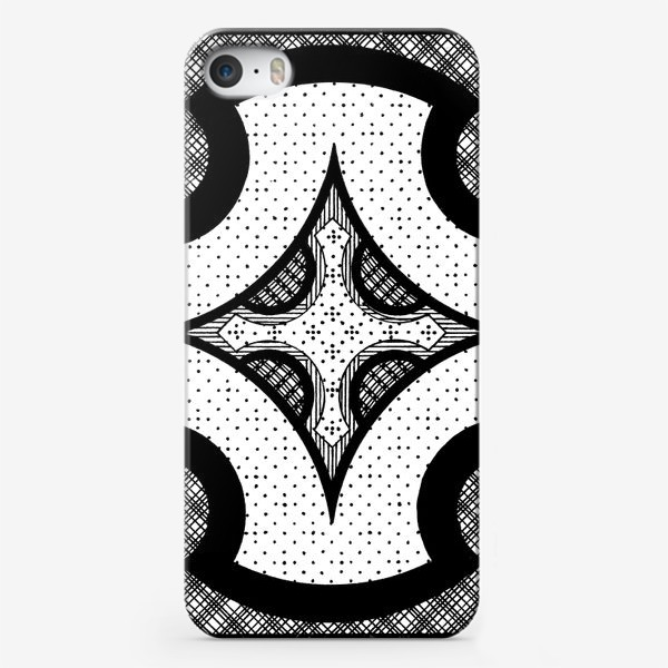 Чехол iPhone «черно-белая композиция»