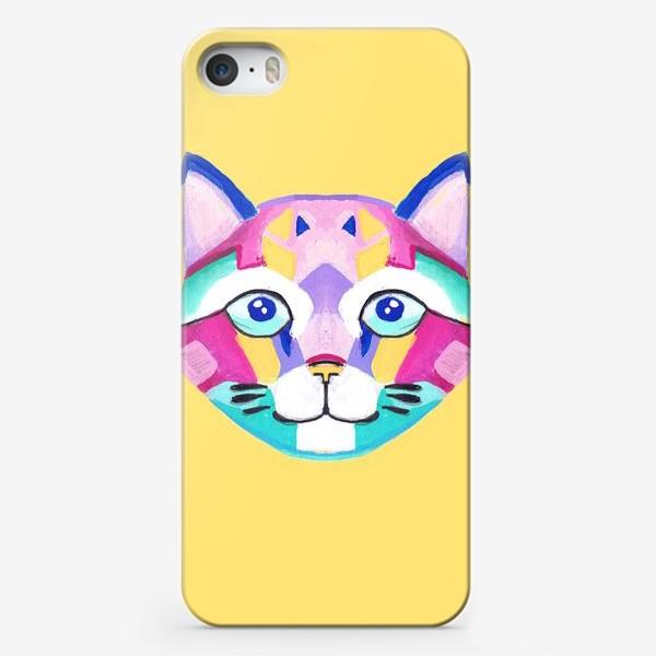 Чехол iPhone «Геометричный Котик»