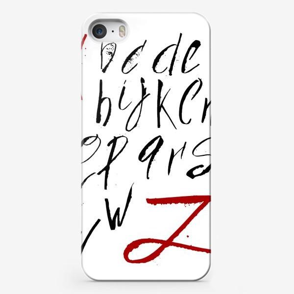 Чехол iPhone «Алфавит»