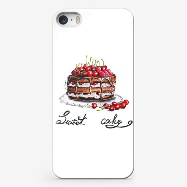 Чехол iPhone «Вишневый торт»