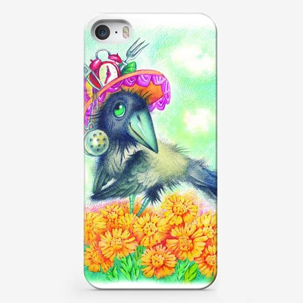 Чехол iPhone «Весенняя ворона»