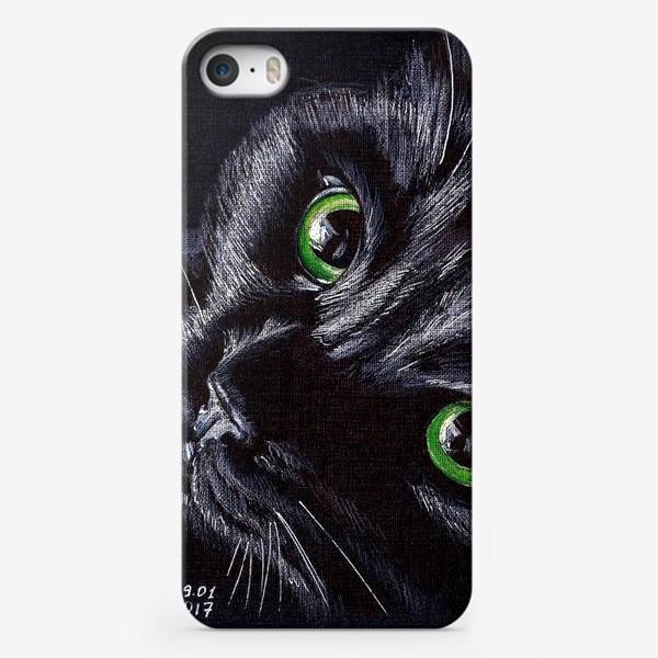 Чехол iPhone «Черный кот»