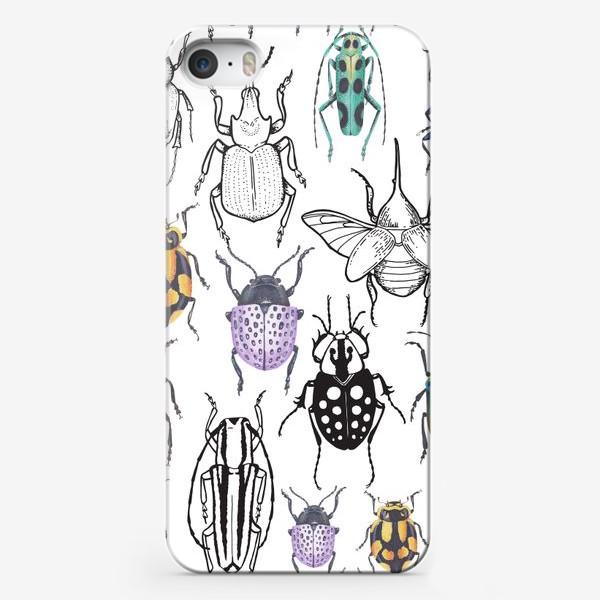 Чехол iPhone «Жуки и графика»