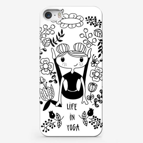 Чехол iPhone «Йога. Поза Светлячка.»