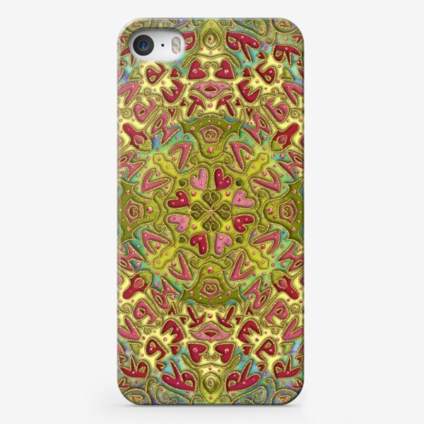 Чехол iPhone «Мандала Я Тебя ЛЮБЛЮ»