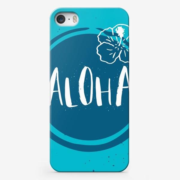 Чехол iPhone «Гавайские мотивы. Леттеринг»