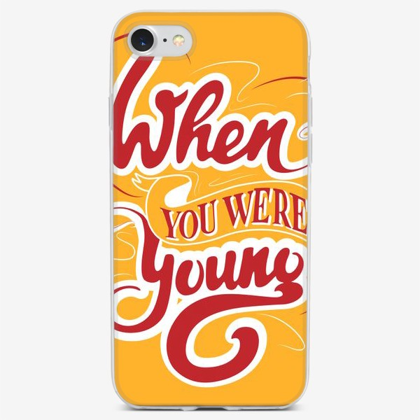 Чехол iPhone «When you were young»