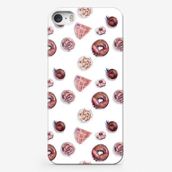 Чехол iPhone «Десерты, коричневая гамма»